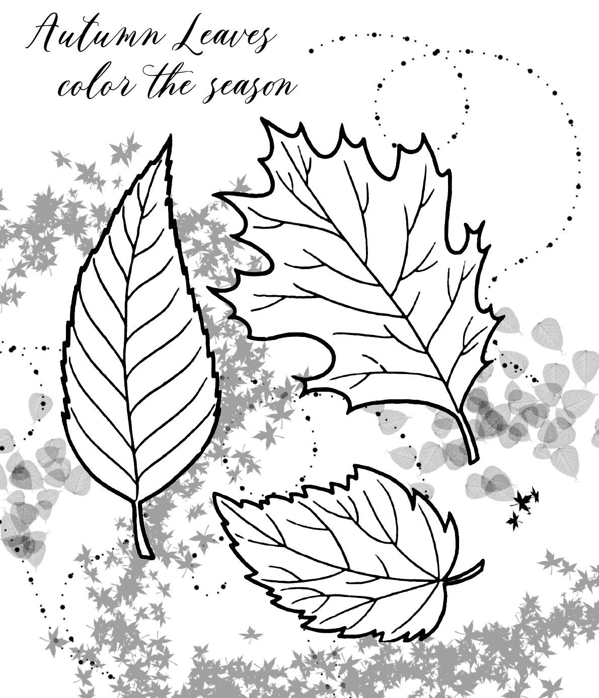 Autumn Leaves Coloring Pages Coloring Rocks