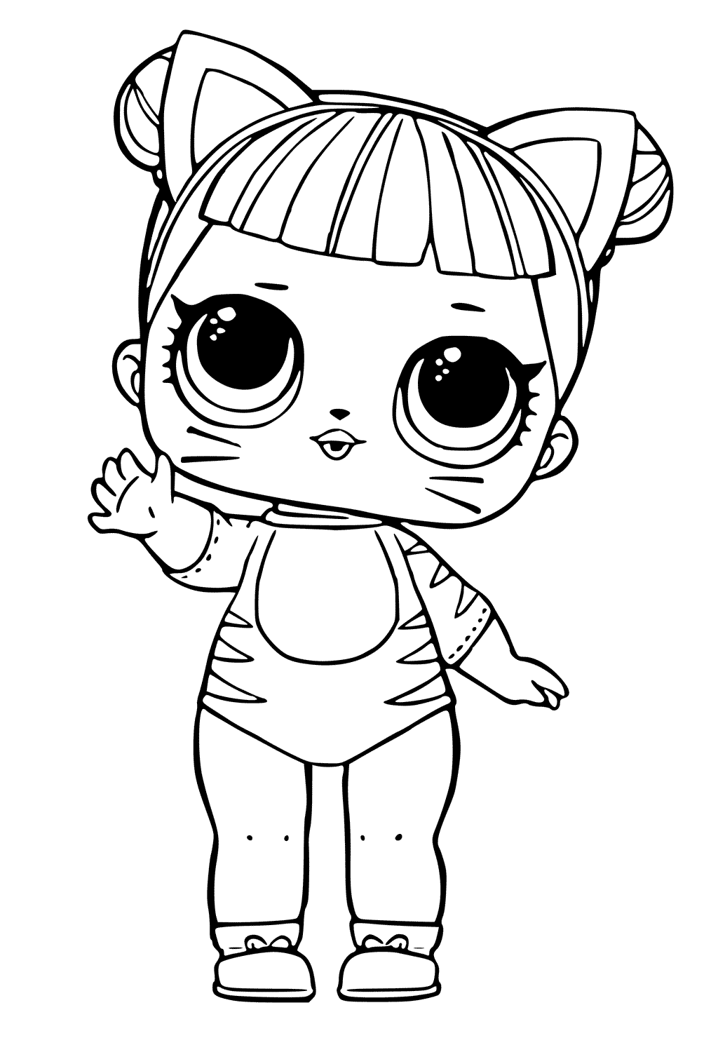 Baby Cat LOL Dolls Coloring Pages