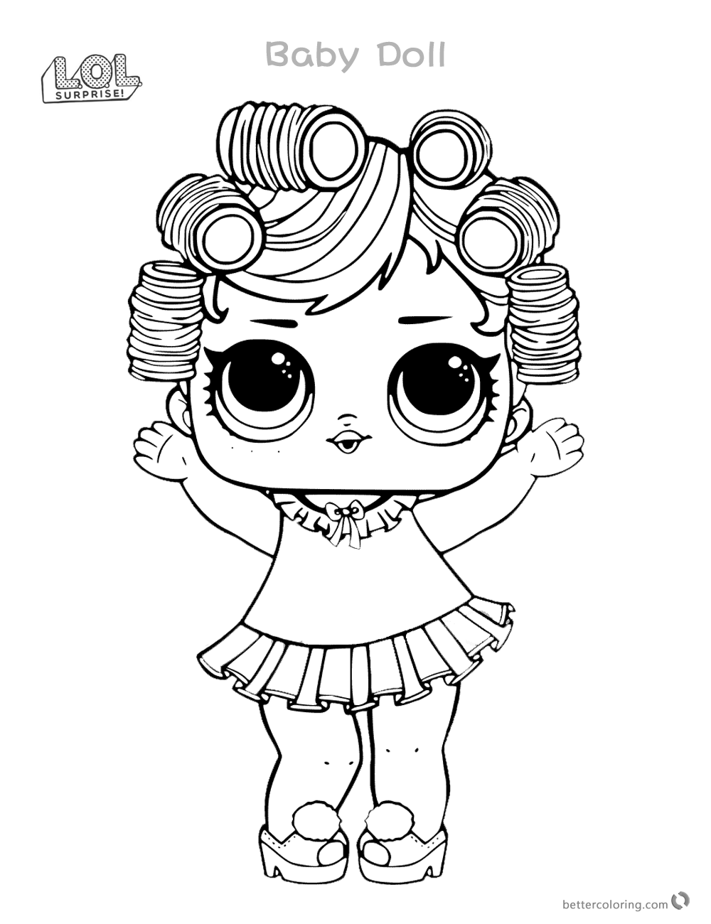 Baby Doll LOL Dolls Coloring Pages