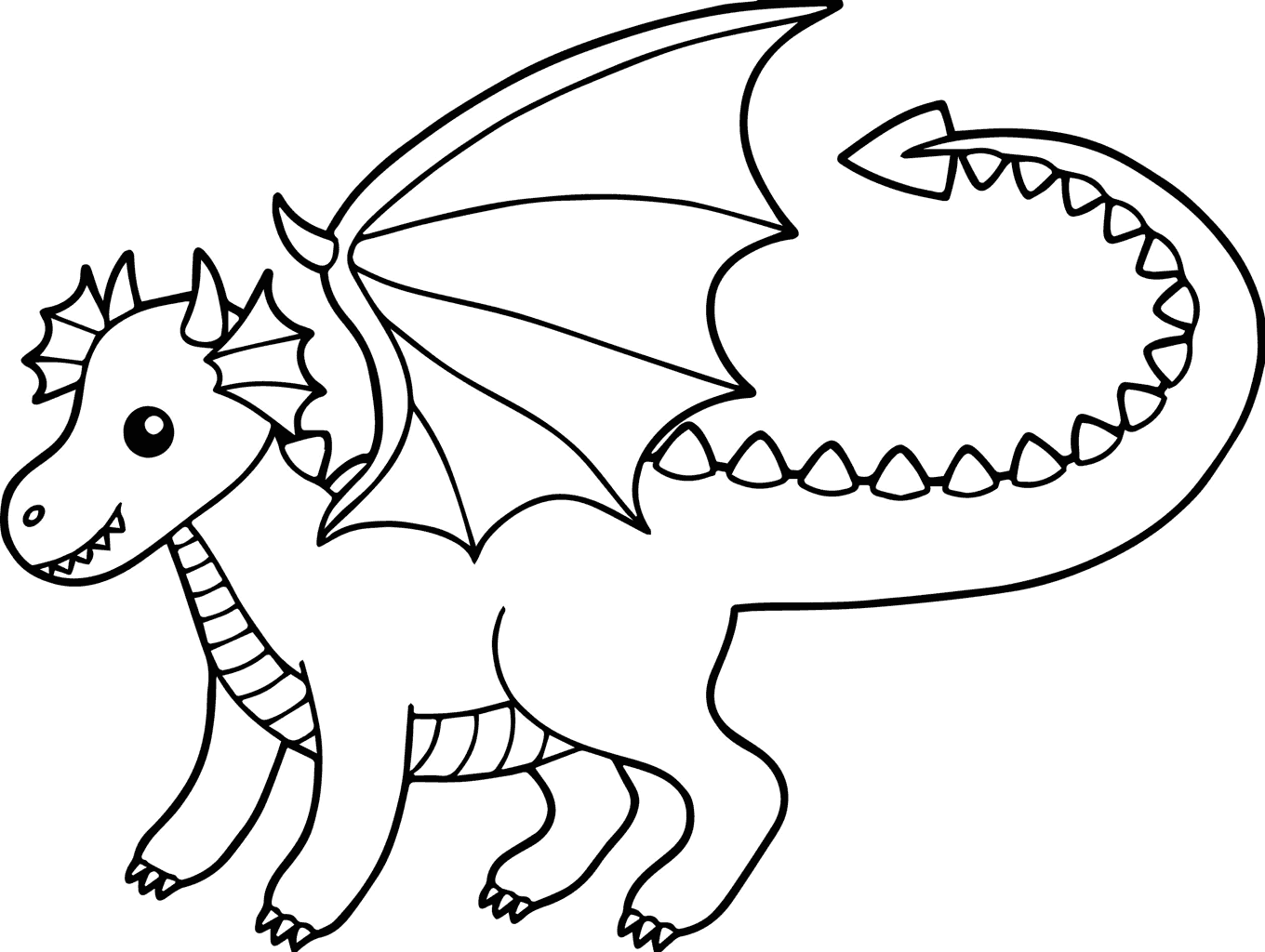 Baby Dragon Coloring Page for Kids - coloring.rocks!