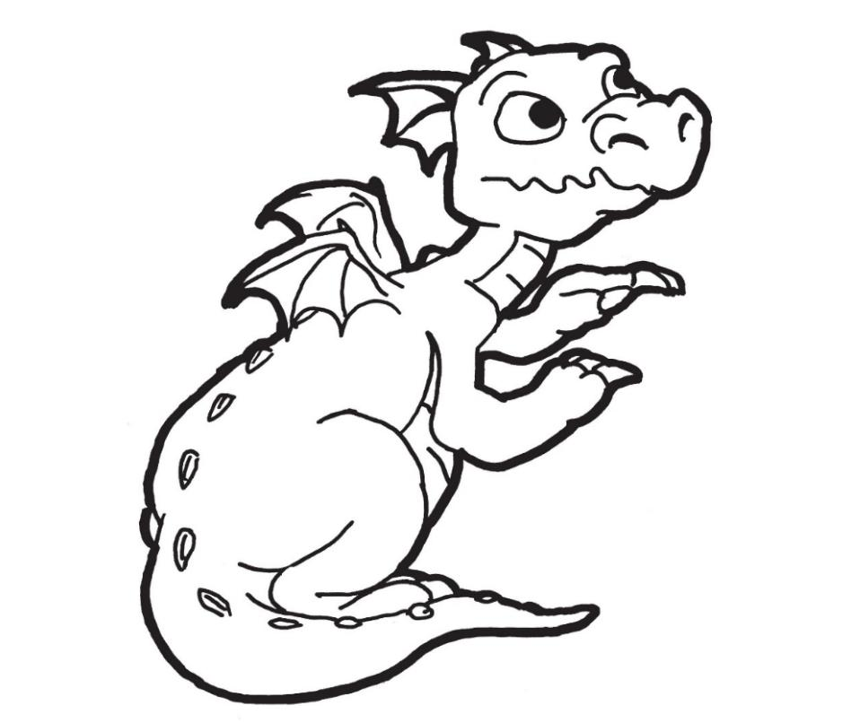 Baby Dragon Coloring Pages for Boys
