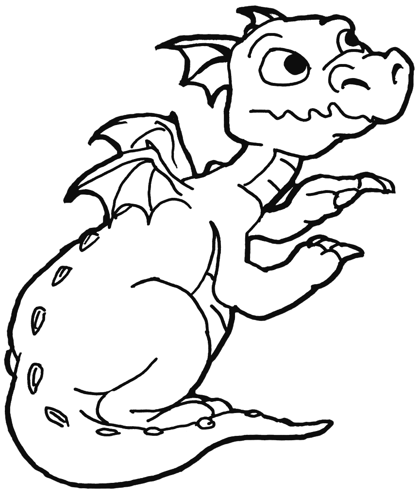 Baby Dragon Printable Coloring Pages