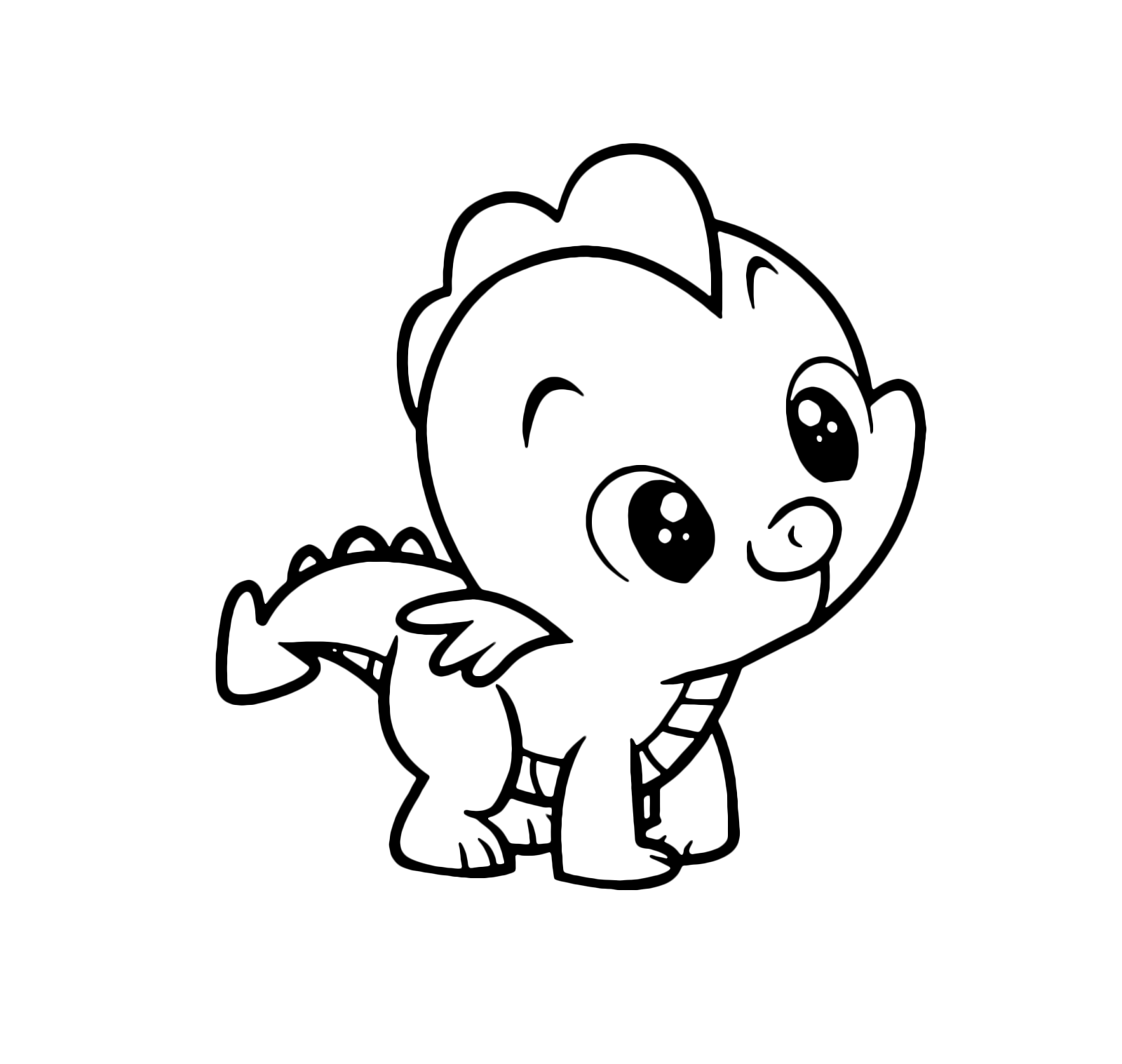 Baby Dragon Spike Coloring page