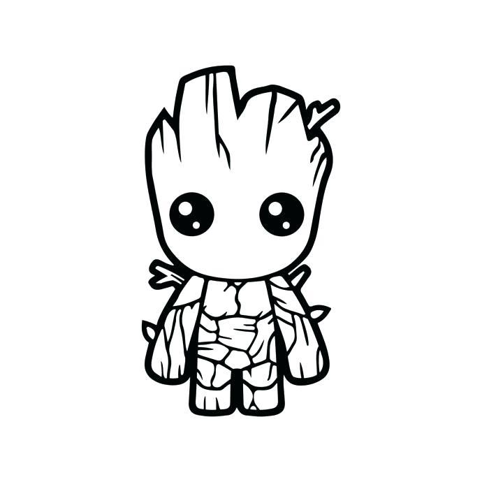 Baby Groot Cool Coloring Pages