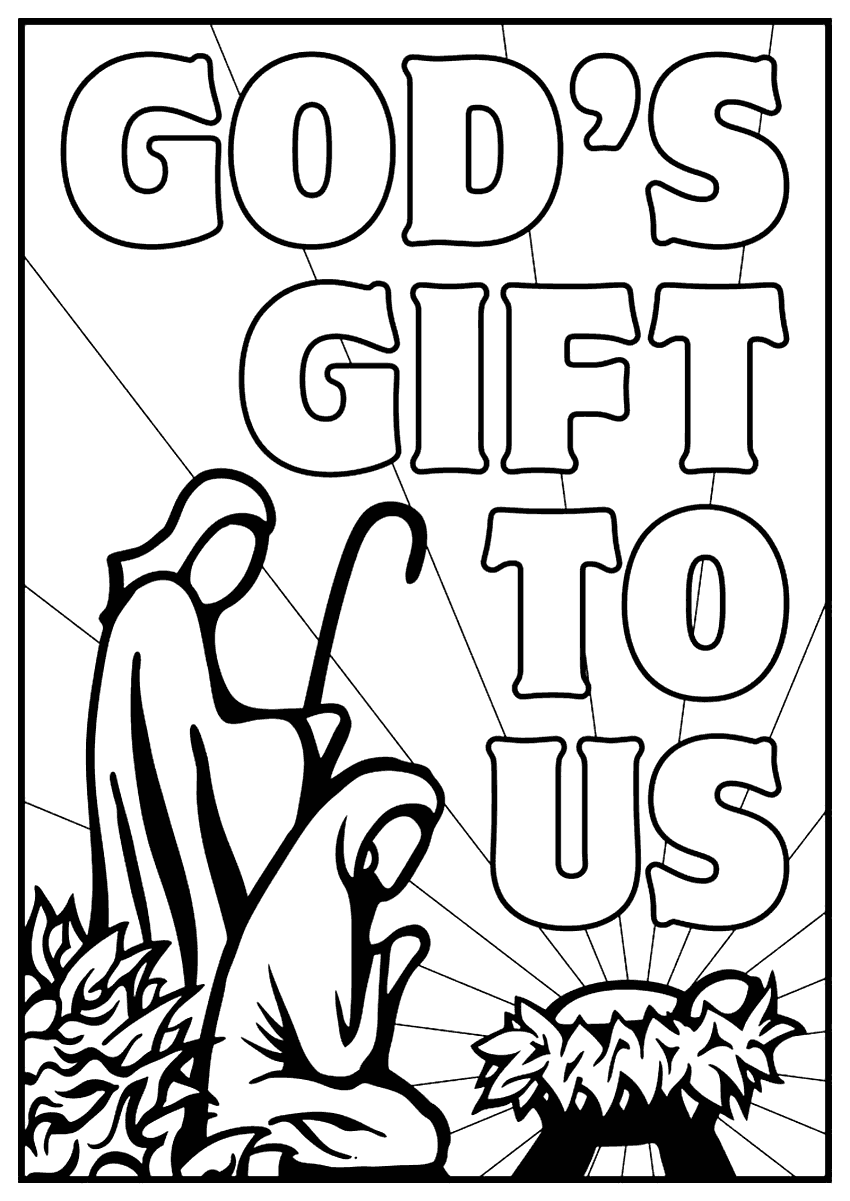 - Baby Jesus Gods Gift To Us Coloring Page – Coloring.rocks!