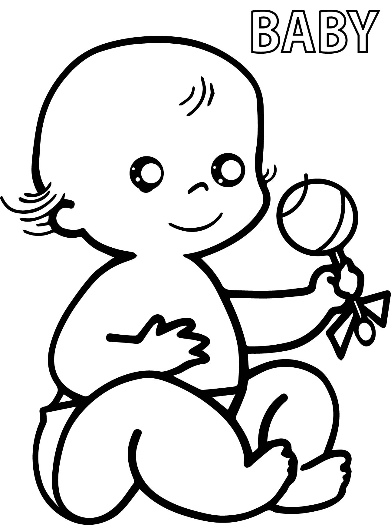 Baby Kindergarten Coloring Pages