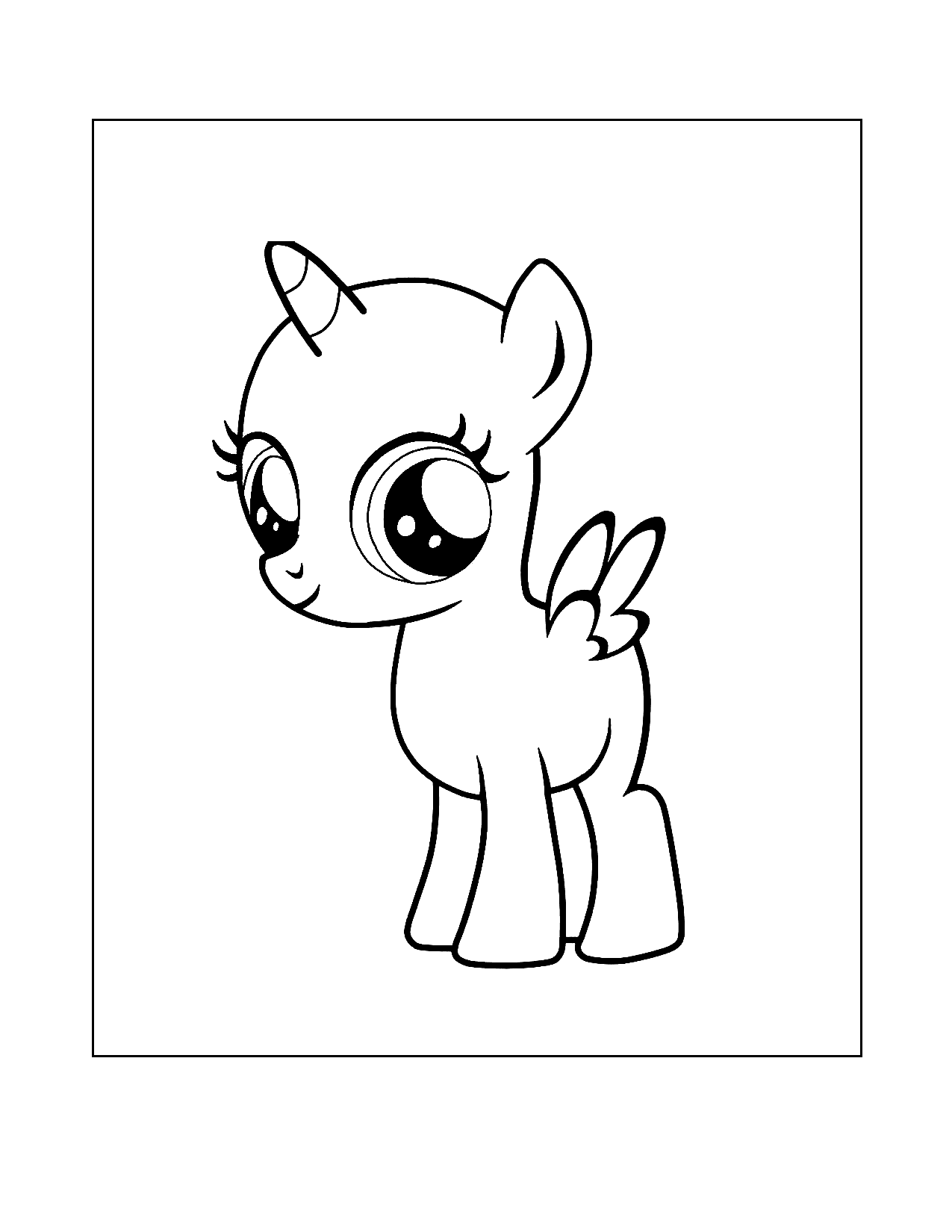 Baby Mlp Alicorn Coloring Page