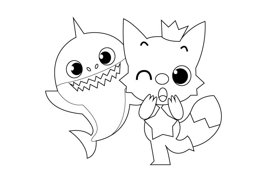 Baby Shark Coloring Pages – coloring.rocks!