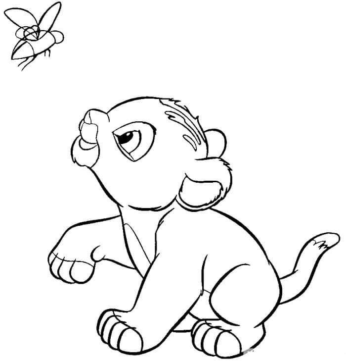 Baby Simba Lion King Coloring Page