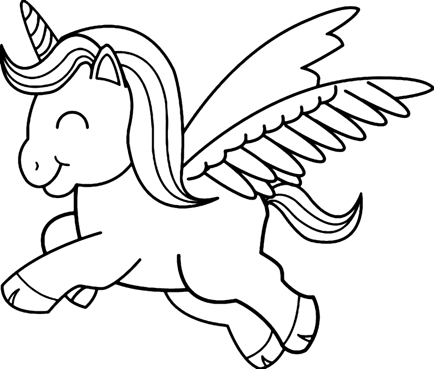 Baby Unicorn Printable Coloring Pages Coloring Rocks