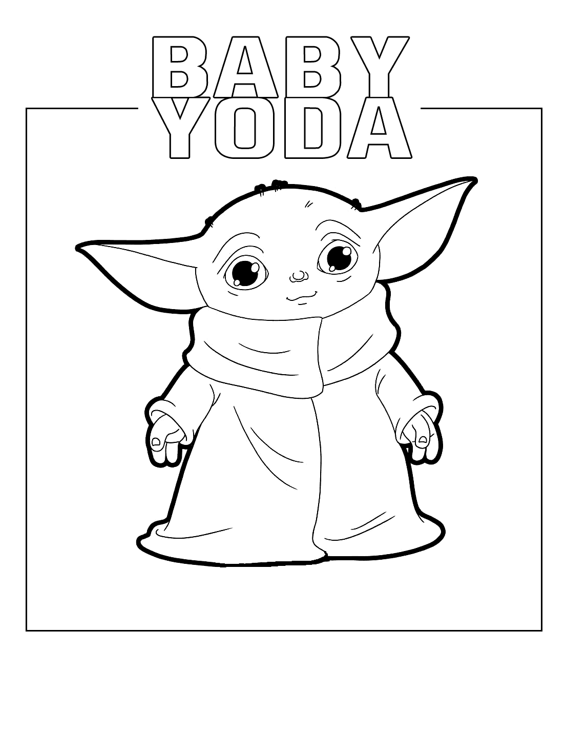 Baby Yoda Coloring Pages