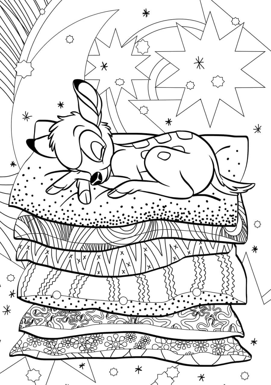 Bambi Coloring Page for Adults