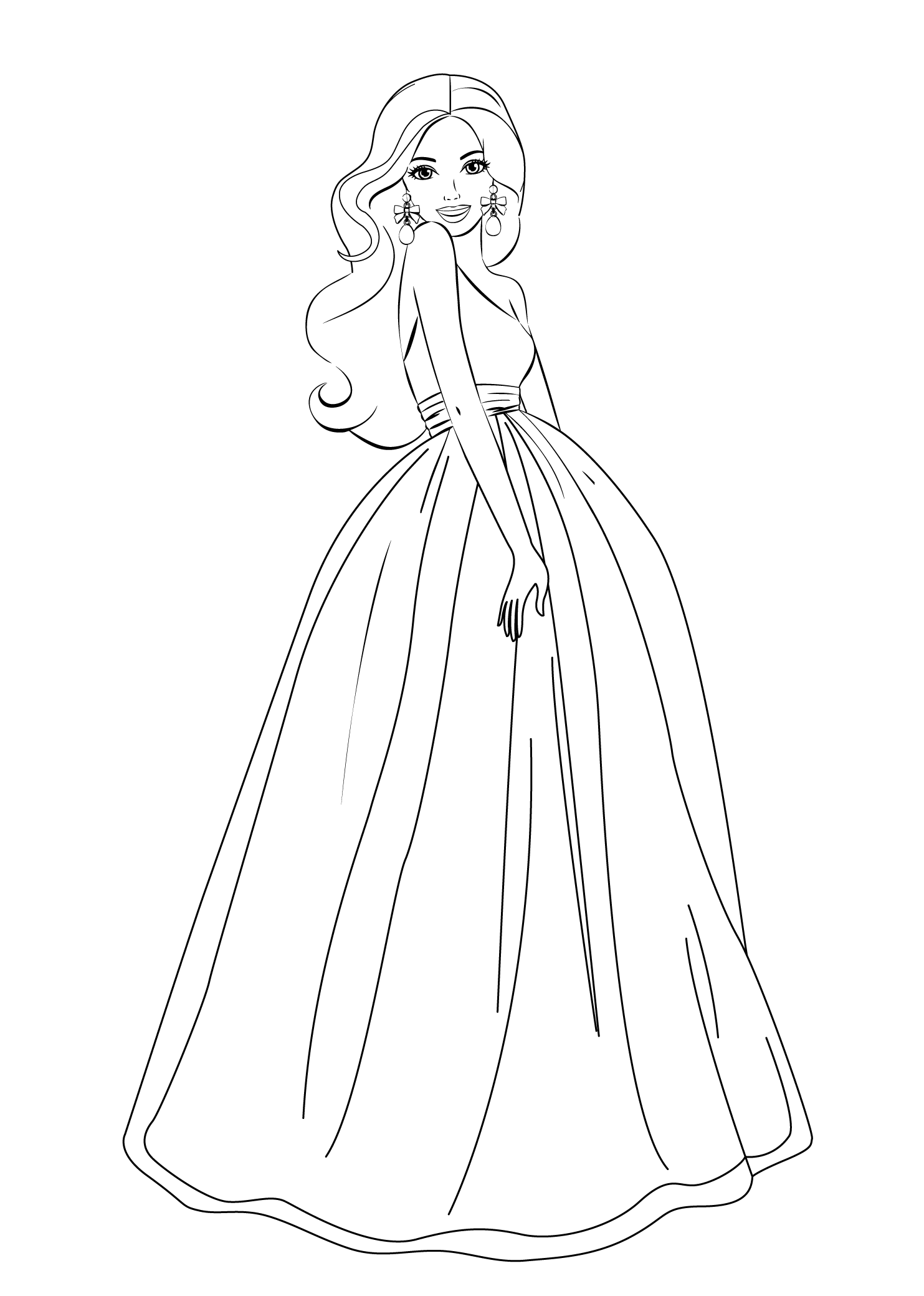 Barbie Gown Coloring Page