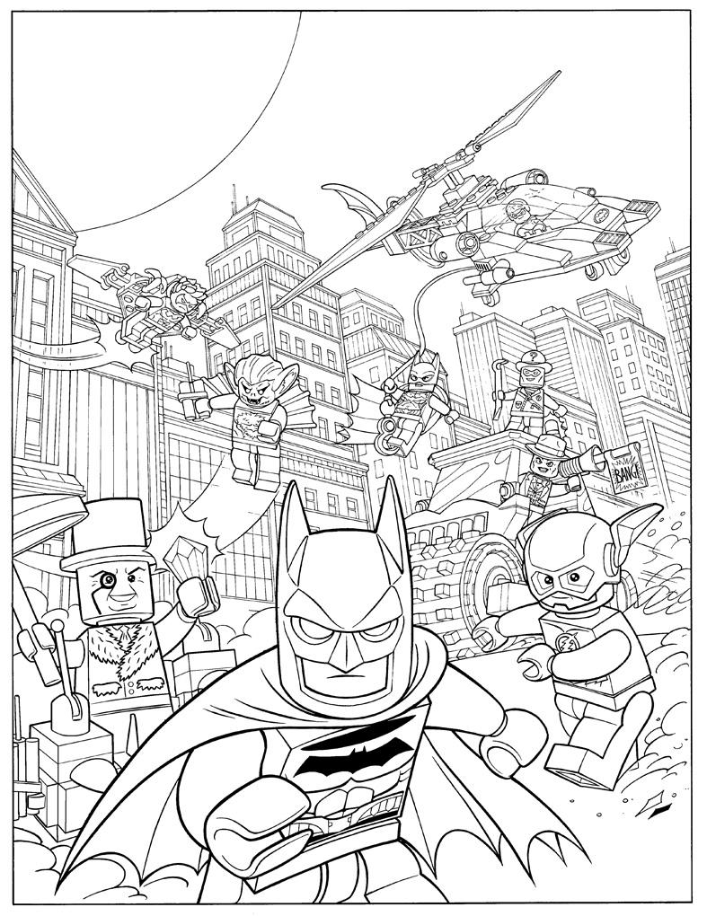 Batman Lego Coloring Page Printable