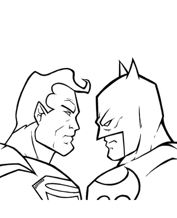 Batman Vs Superman Coloring Pages