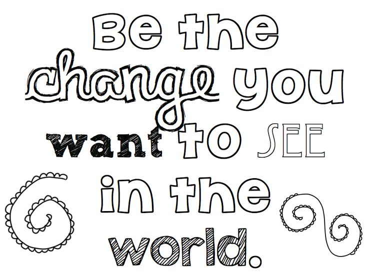 Be the Change Coloring Pages for Teens