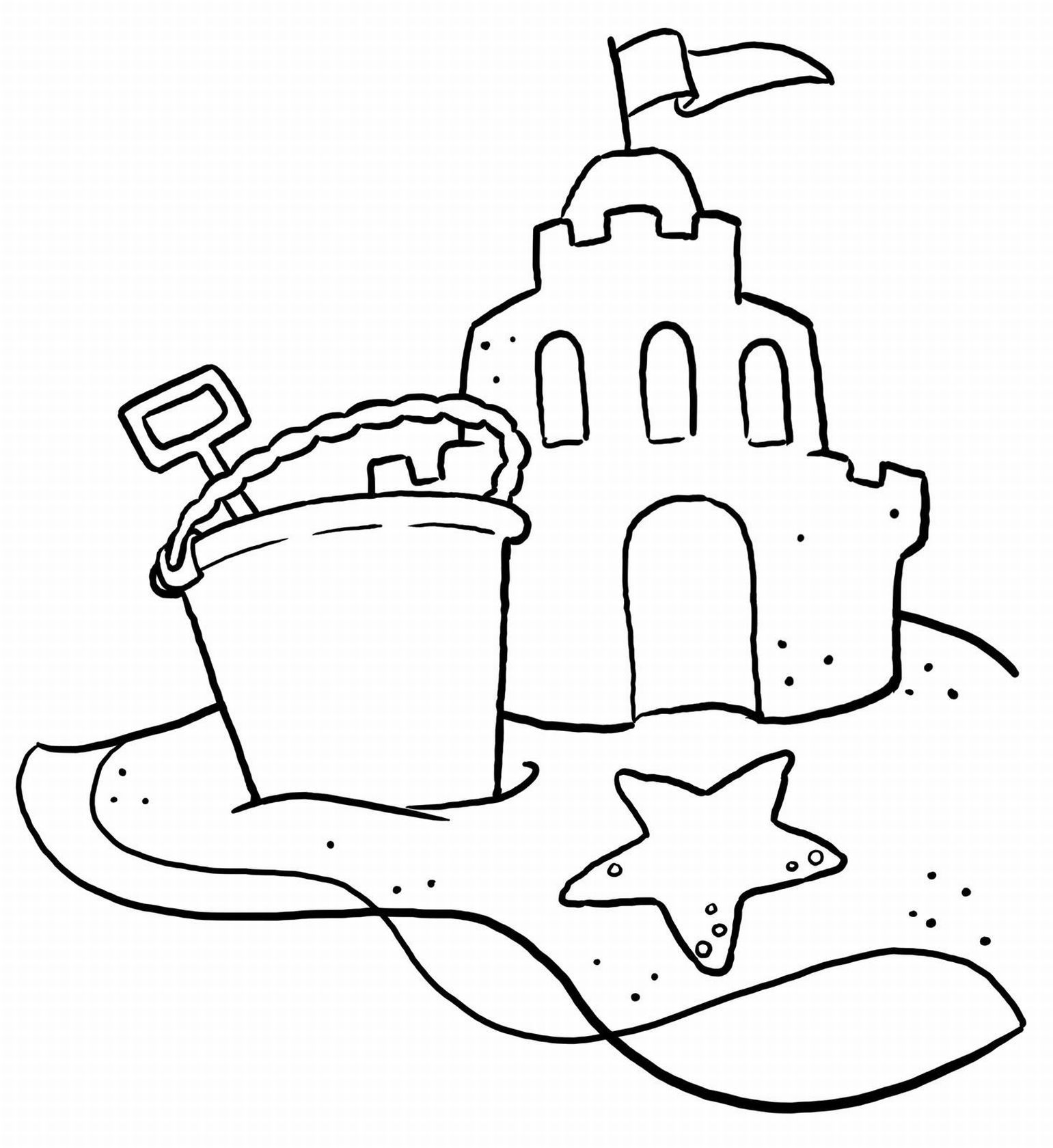 Beach Castle Coloring Page