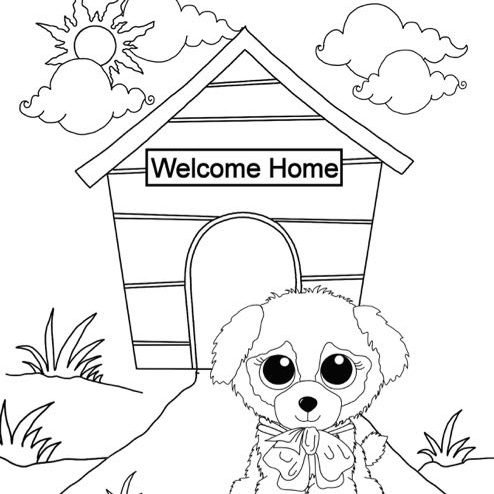 Beanie Boo Doghouse Coloring Pages