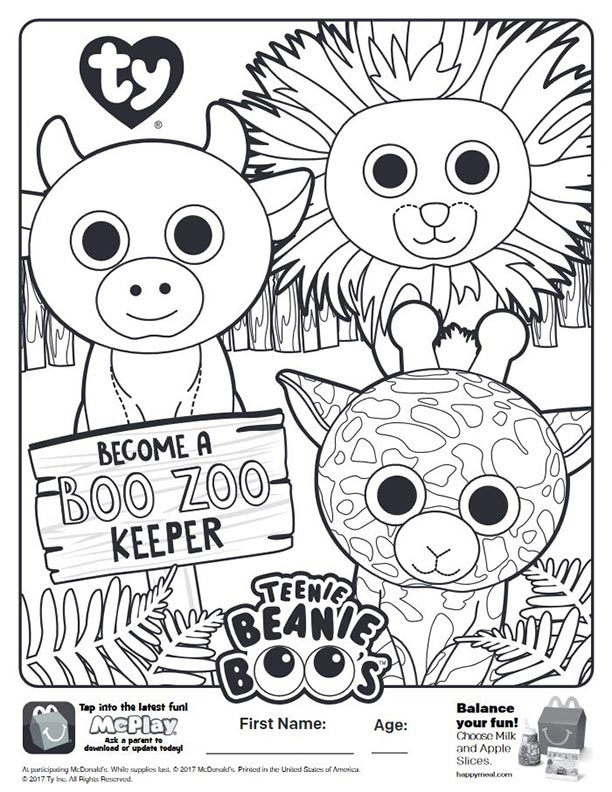 Beanie Boo Zoo Coloring Pages