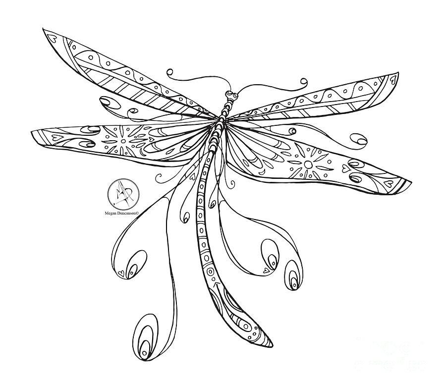 picture regarding Dragonfly Printable named Dragonfly Printable Craft coloring.rocks!