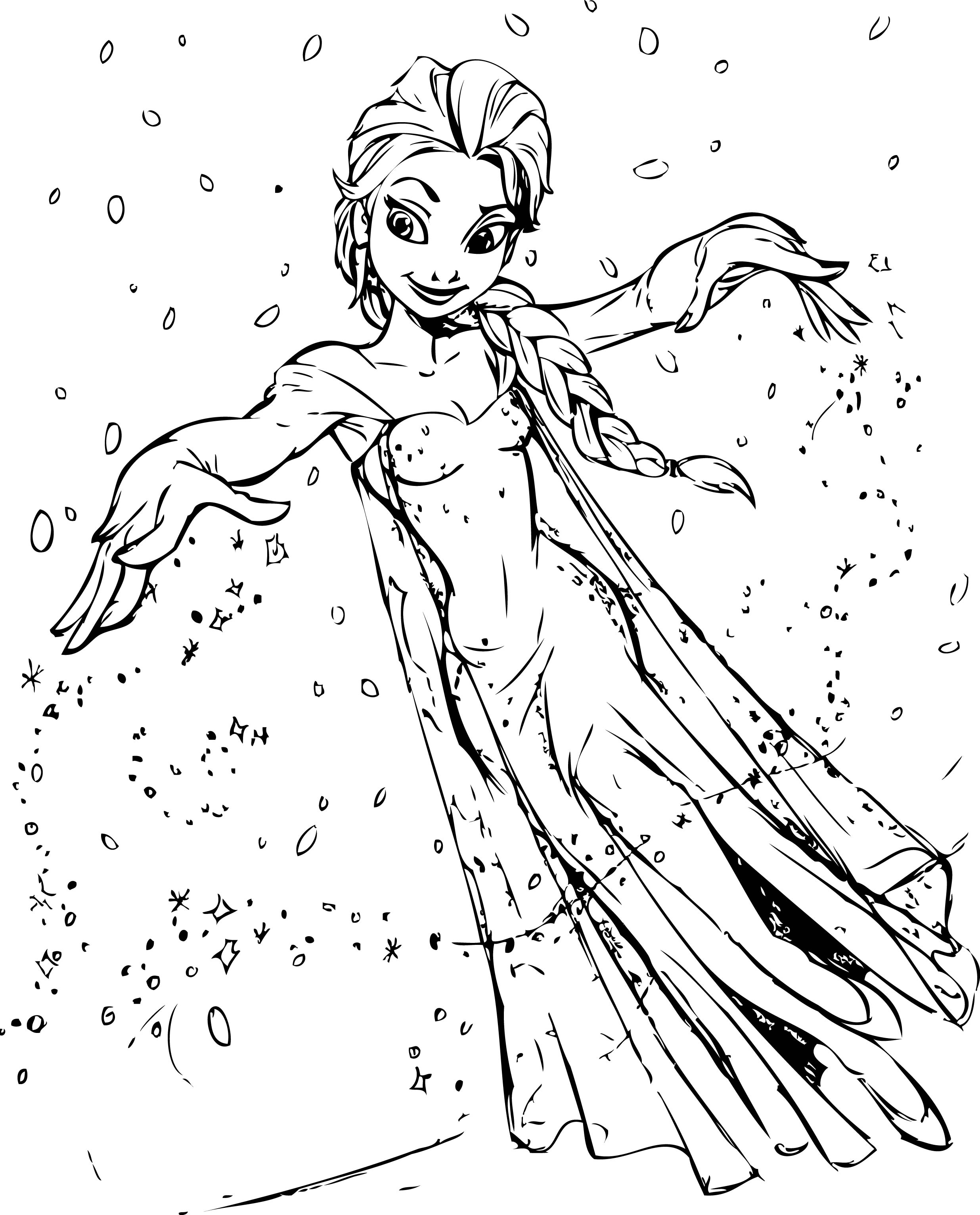 Beautiful Elsa Coloring Pages