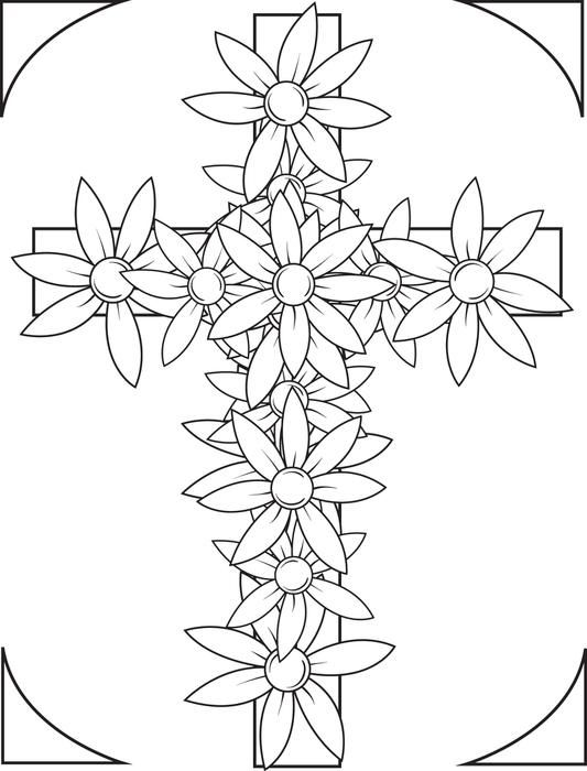 Cross Coloring Pages - GetColoringPages.com | 700x533
