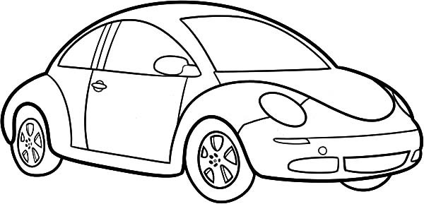 Beetle Bug Car Coloring Pages