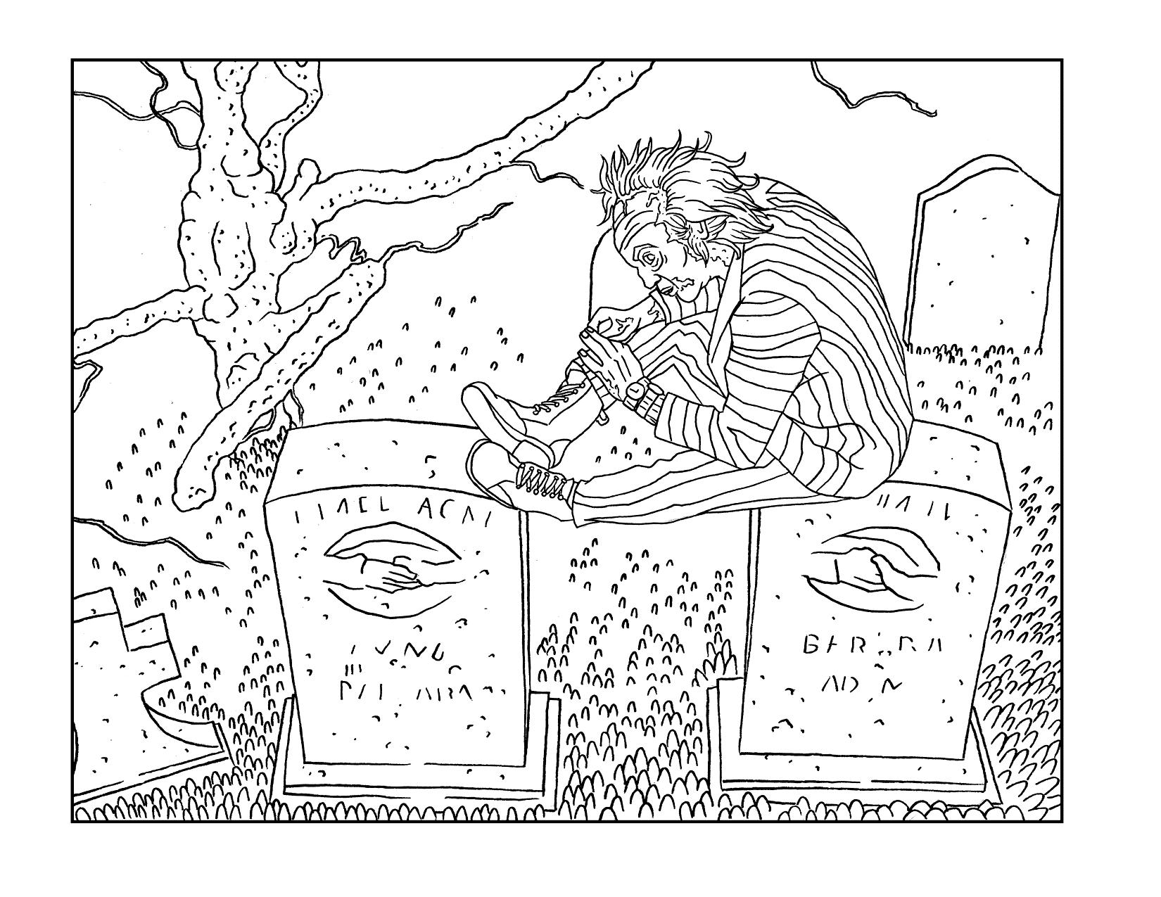 Beetlejuice Halloween Coloring Page