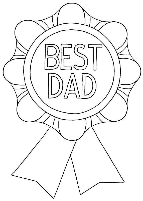 Best Dad Award Printable Card