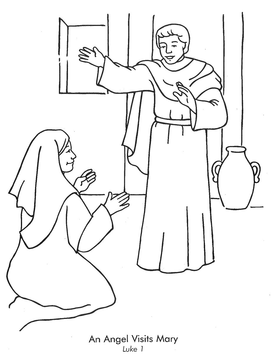 Bible Angel Coloring Pages