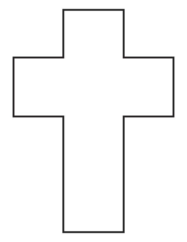 Blank Cross Coloring Page