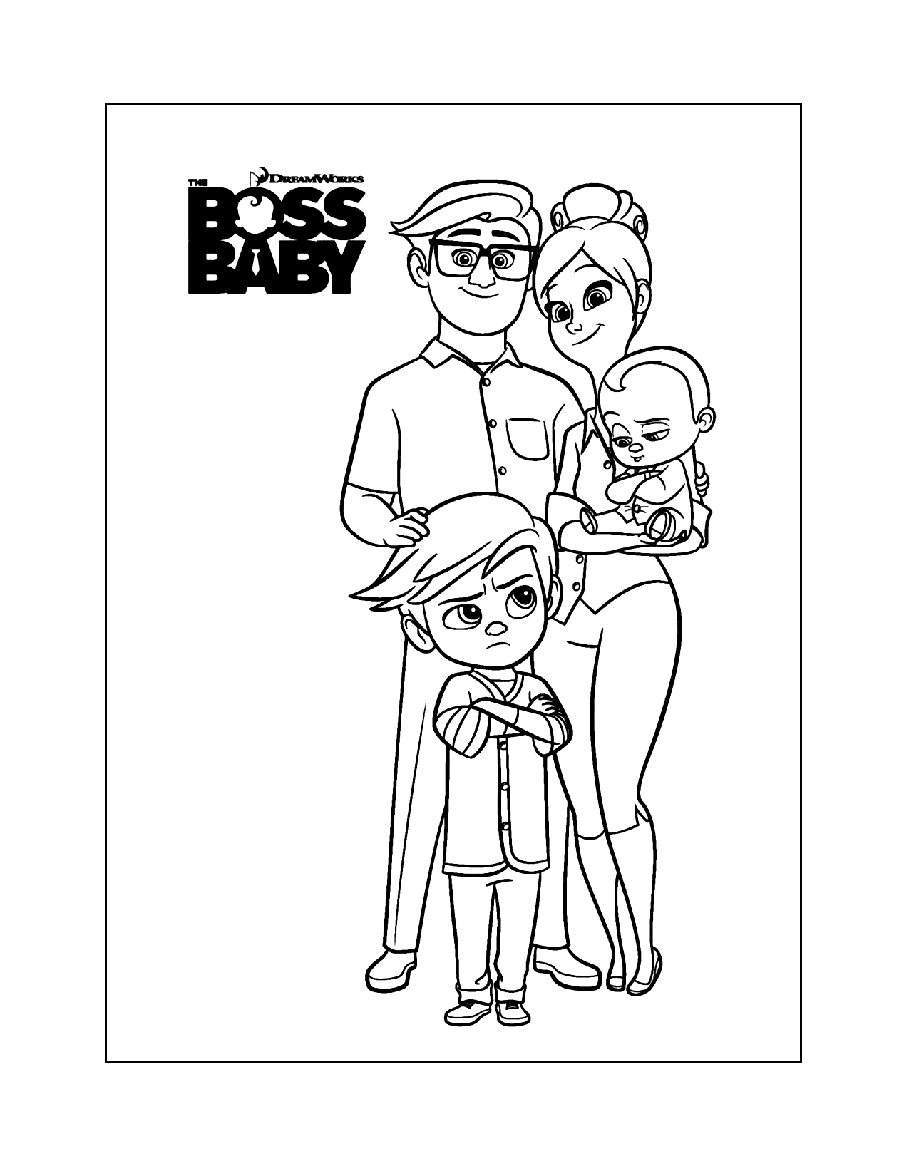 Boss Baby Family Coloring Pages