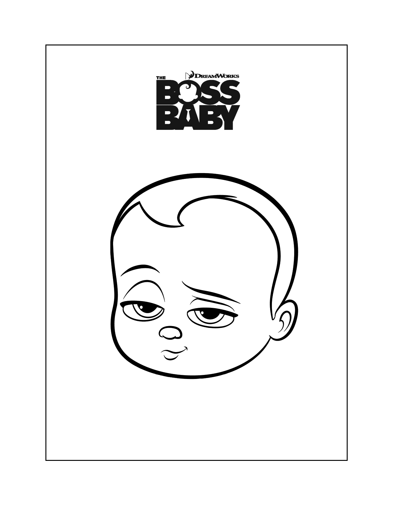 Boss Baby Head Coloring Page