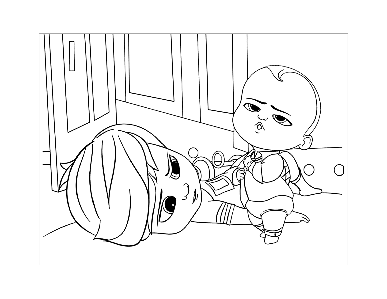 Boss Baby Movie Scene Coloring Page
