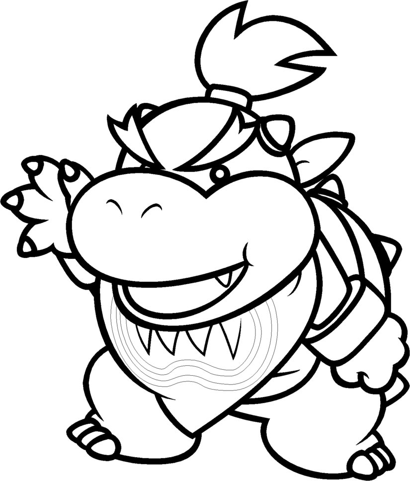 Bowser Mario Coloring Pages