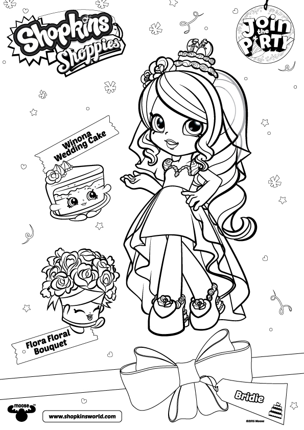 Bridie Shoppies Coloring Pages