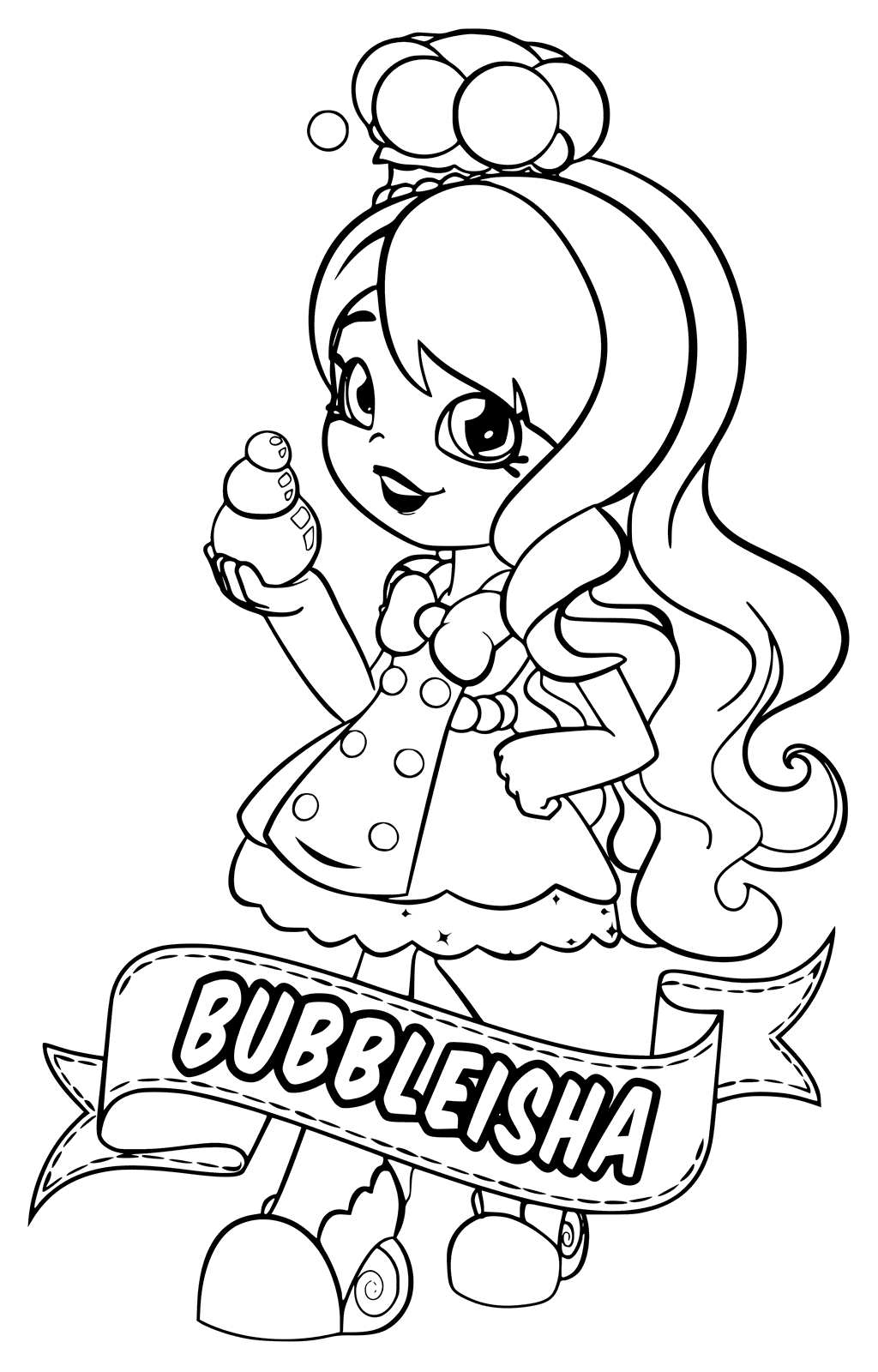 Bubbleisha -Shoppies Coloring Pages