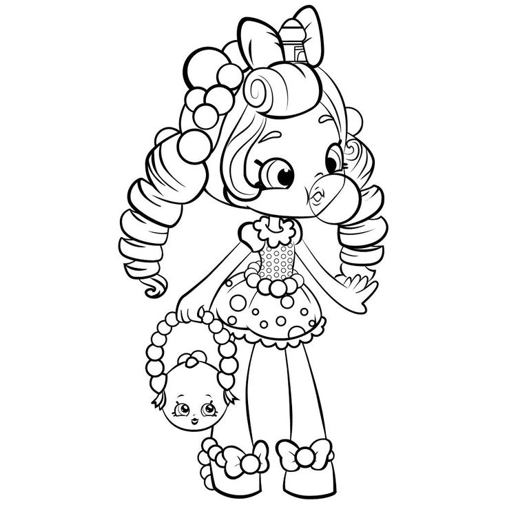 Bubbleisha Shoppies - Shopkins Coloring Pages