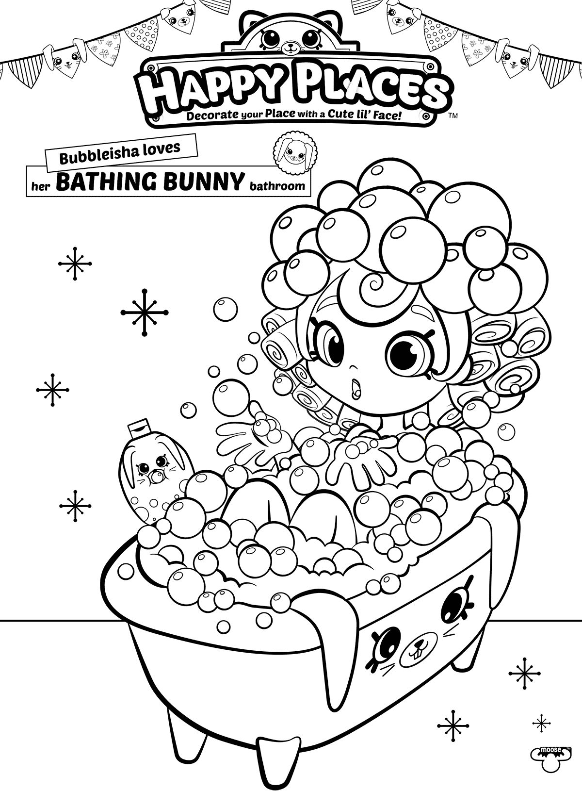 Bubbleisha is a Bathing Bunny - Shoppies Coloring Pages