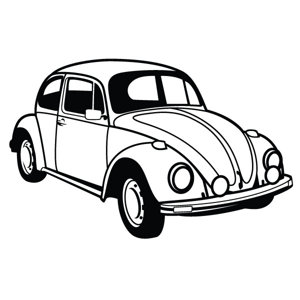 Bug Car Coloring Pages