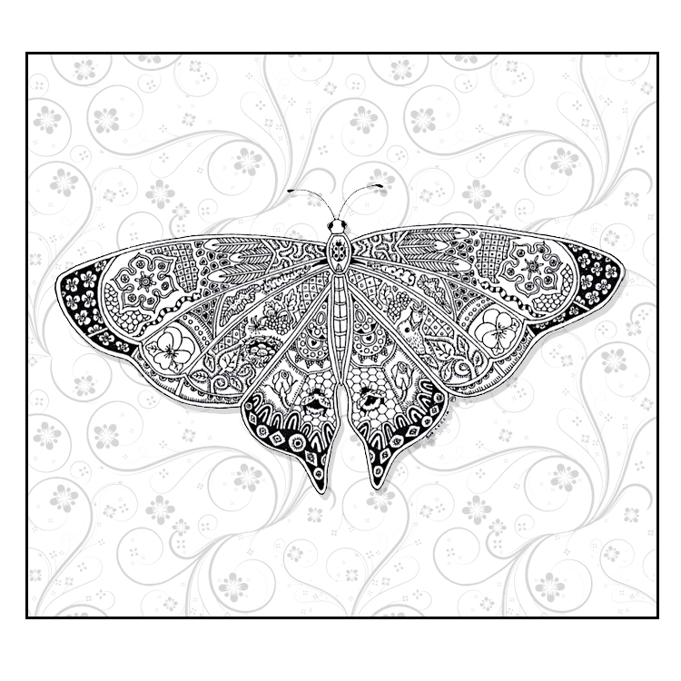 Butterfly Coloring Pages Floral