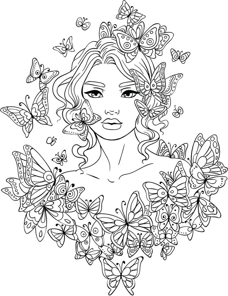 Butterfly Girl Coloring Pages