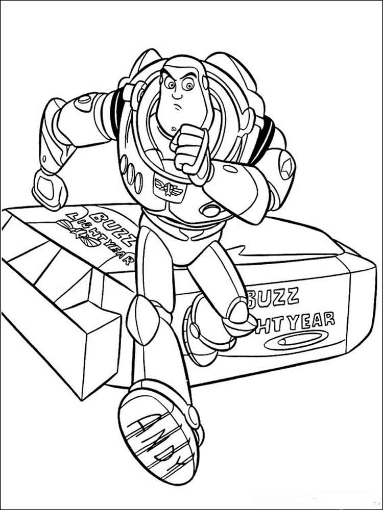 Buzz Lightyear Toy Story Coloring Pages Printables