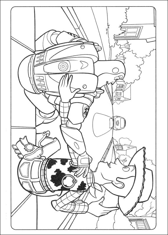Buzz and Woody Pals Toy Story Coloring Pages