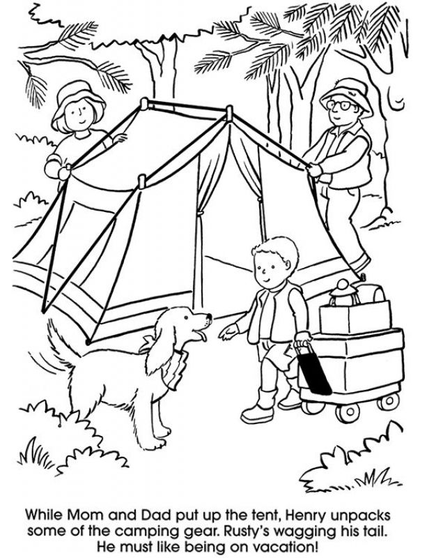 Camping Vacation Coloring Pages