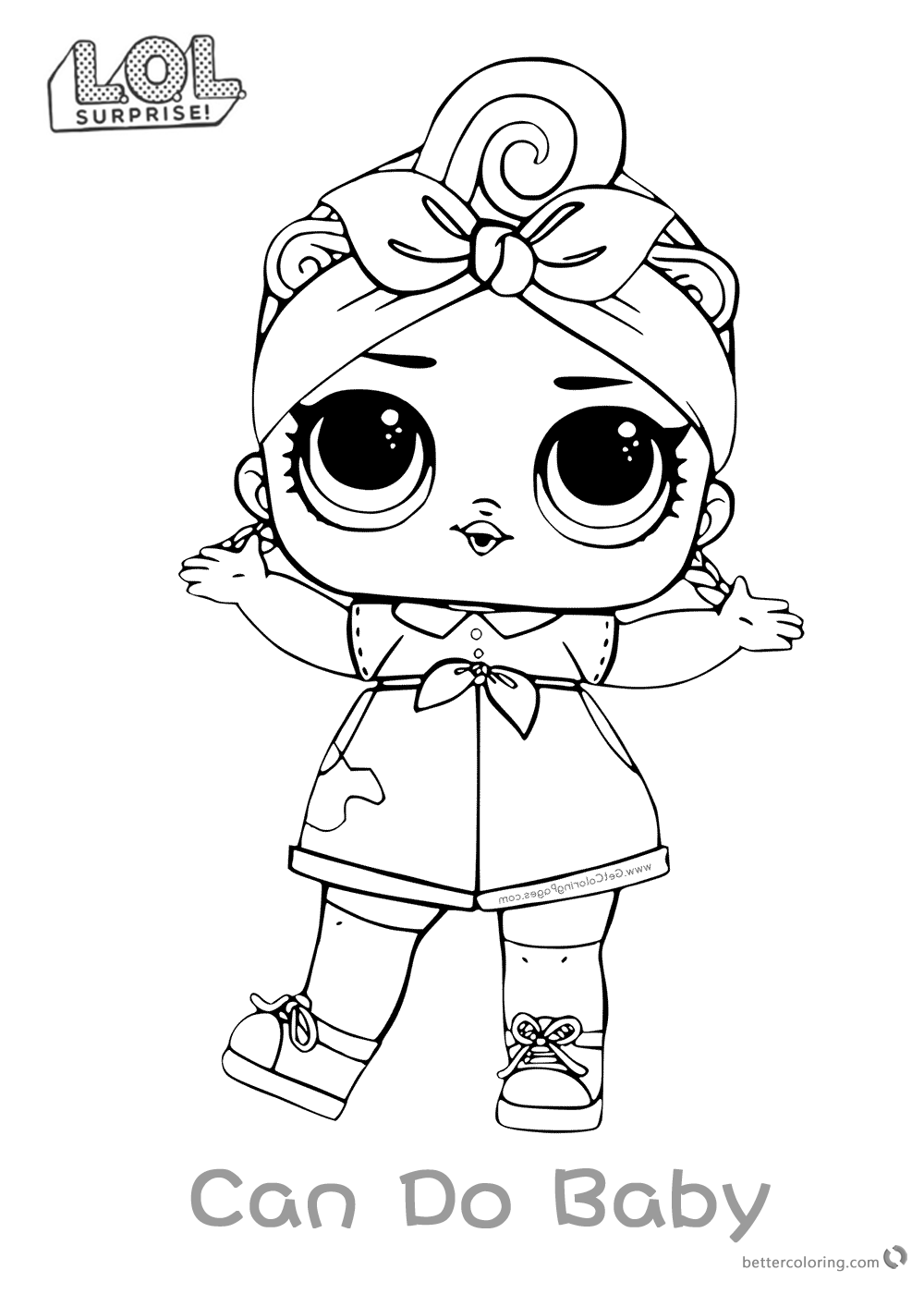 Can Do Baby LOL Dolls Coloring Pages