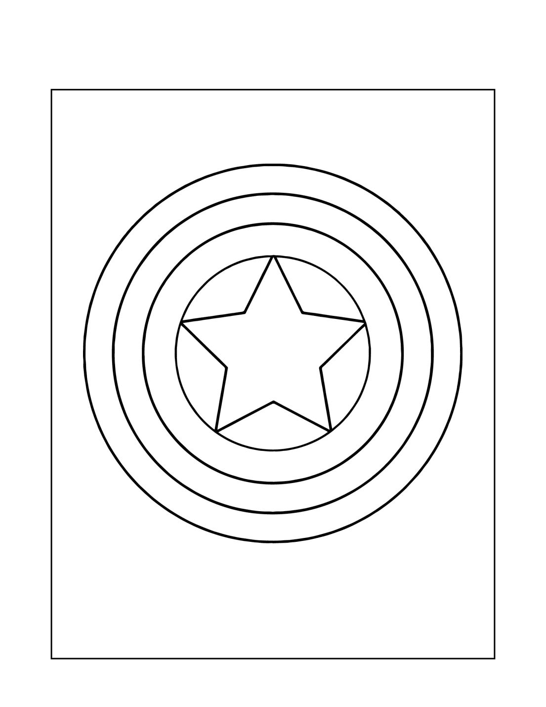 Captain America Star Coloring Page