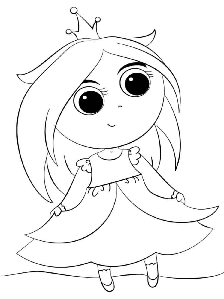 Cartoon Princess Free Coloring Pages