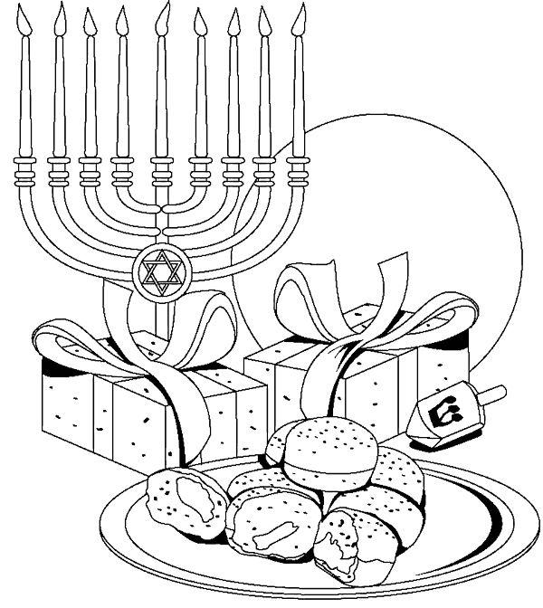 Free Printable Hanukkah Coloring Pages   Hanukkah crafts, Hanukkah ...   672x600