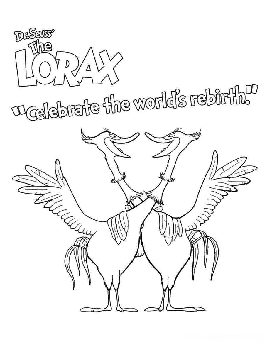 Celebrate Rebirth Lorax Coloring Page